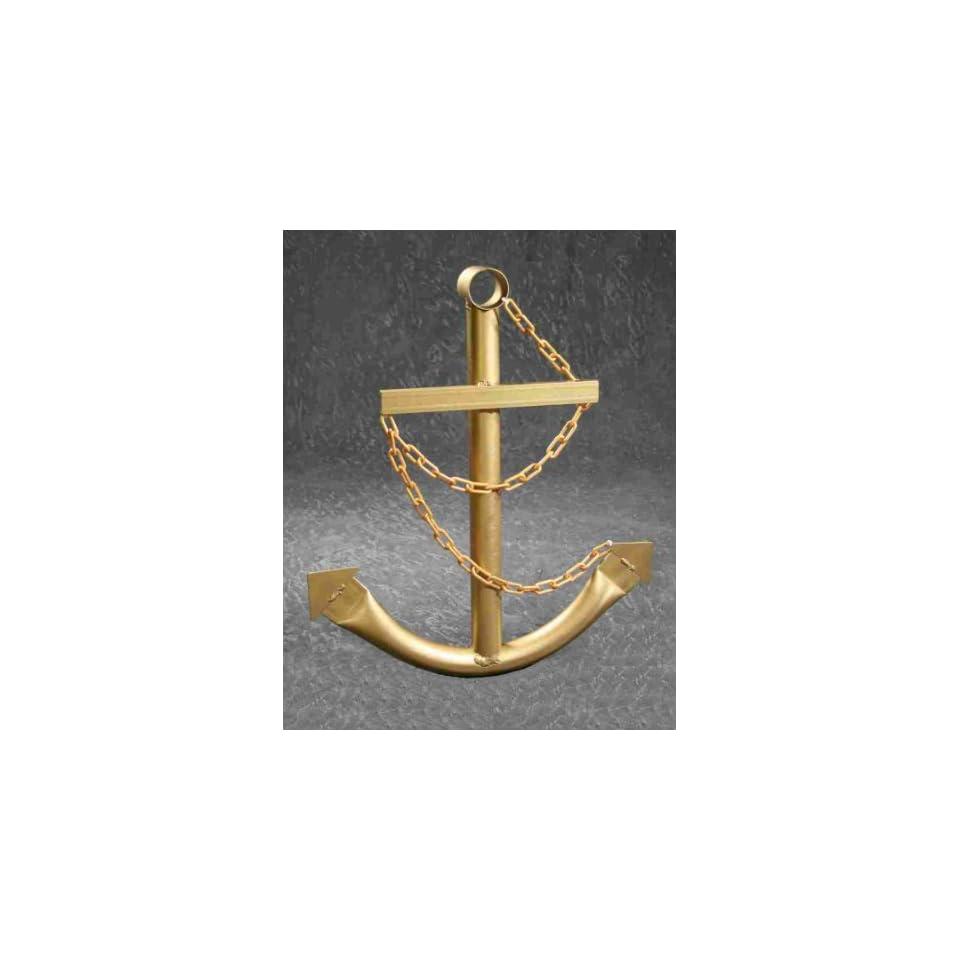 Nautical 2 Gold Boat Anchor Nautical Metal Decorative Wall Yard Art Plaque