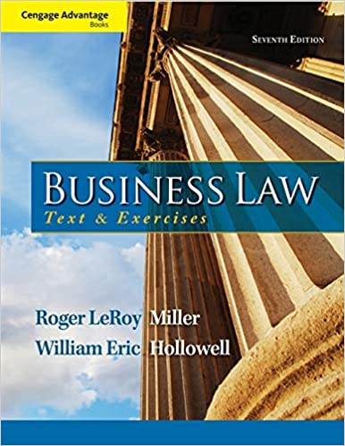 cengage advantage books business law text and exercises ebook roger leroy miller william e hollowell