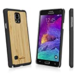 note 4 case wood - Galaxy Note 4 Case, BoxWave [True Bamboo Minimus Case] Hand Made, Real Wood Cover for Samsung Galaxy Note 4 - Jet Black