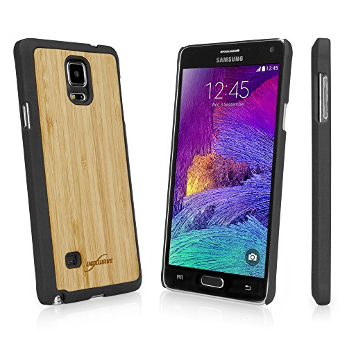 Galaxy Note 4 Case, BoxWave [True Bamboo Minimus Case] Hand Made, Real Wood Cover for Samsung Galaxy Note 4 - Jet Black