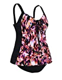 Septangle Women's Two Piece Ruched Swimsuit