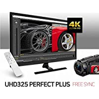 QX VIEW UHD325 PERFECT PLUS UHD (3840x2160) AMD FreeSync, PIP&PBP, DP&HDMI2.0 (HDCP2.2), Remote, Flicker Free & Low Bluelight, 4K, sRGB 99% (Perfect Pixel)