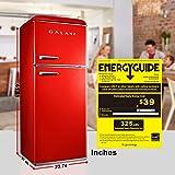 Galanz GLR10TRDEFR Retro Refrigerator, 10.0 Cu