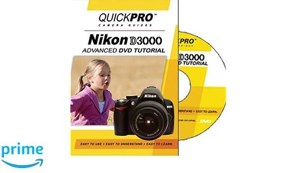New nikon d3000 basics quickpro interactive dvd video tutorial.