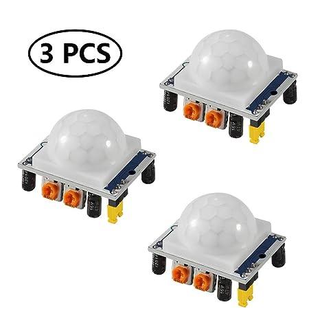 Amazon com : Aoicrie 3Pcs HC-SR501 Adjustable IR