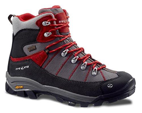 TREZETA Shoes Men Inca WP Anthacite-Red-42 (8 UK)