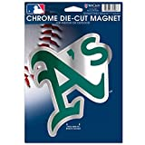 MLB Oakland Athletics Die Cut Logo Chrome Magnet, 6.25 x 9-Inch