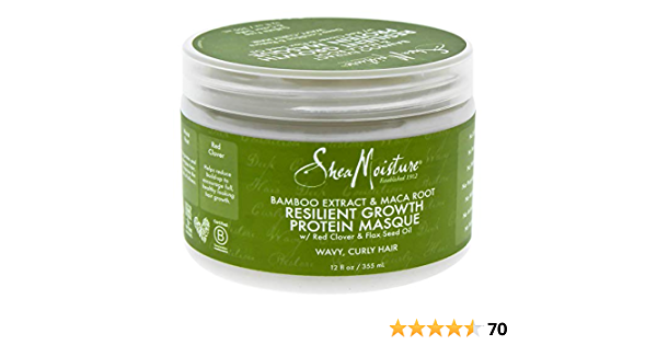 Shea Moisture Bamboo Extract & Maca Root Resilient Growth Protein máscara