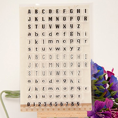 ForHe Letters Numbers Clear Silicone Seal Stamp For DIY Album Scrapbooking Card Decor ()