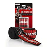 "Hayabusa Perfect Stretch v3 Mexican Style 180"" Boxing Hand Wraps (Black)"