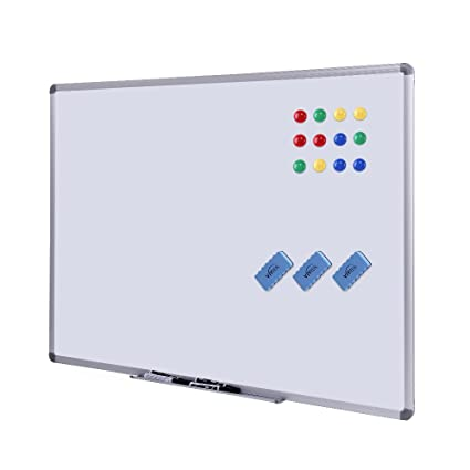 52e5707dc8c Dry Erase Board - White Board 48 x 36 Magnetic Dry Erase Board with  Aluminum Frame