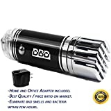Car Air Purifier by DBD, Portable Air Freshener Ionizer - Odor Eliminator - Remove Pollen, Dust, Cigarette Smoke, Food Odor, Pet Smell - AC/DC Adapter included for Home and Office