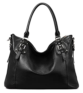 Amazon.com: Coolcy Vintage Real Leather Handbags for Women Tote ...