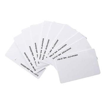 Rfid Karte.Rfid Karten Toogoo R 150 Stueck Ausweise Zugang Em4100 125khz Rfid