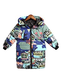 Roffatide Unisex Children Winter Hooded Camouflage Down Jacket Coat Thick Clothes