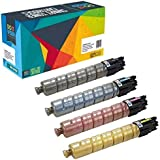 Do it Wiser Compatible Toner for Ricoh Aficio MP C5501 MP C4501 841452 841453 841454 841455-25,500 (Bk) & 18,000 (CMY) Pages - 4 Pack