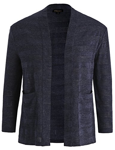 Chicwe Womens Plus Size Jacquard Cardigan Jacket - Casual and Work Blazer