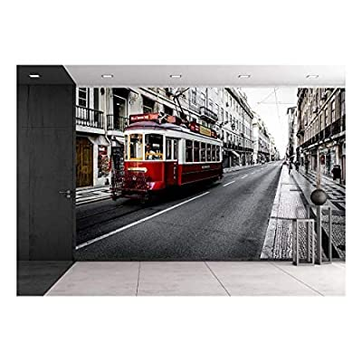 Cityscape in Black and White - Removable Wall Mural | Self-Adhesive Large Wallpaper - 66x96 inches