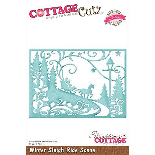 CottageCutz CCE316 Winter Sleigh Ride Scene Elites Die, 5