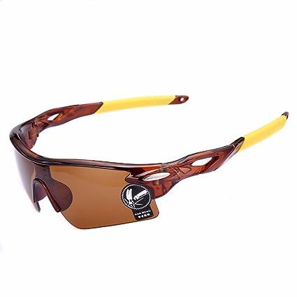 Moda deportes al aire libre Ciclismo para bicicleta Pesca Gafas Gafas de conducción gafas de sol (marrón)