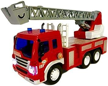 Fun Toys gl44595 a – Módulo de bomberos con escalera giratorio, luz y sonido, incluye pilas, modelo Tráfico, 1: 16, 30 cm), color rojo , color/modelo surtido: Amazon.es: Juguetes y juegos