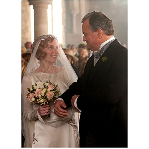 Downton Abbey Hugh Bonneville as Robert Crawley, Earl of Grantham Walking the Bride Down the Isle 8 x 10 Inch Photo]()