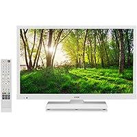 "Logik L24HEDW18 24"" Inch White HD Ready LED TV DVD Combi PC Input HDMI USB Record Pause Play Live TV. (White)"