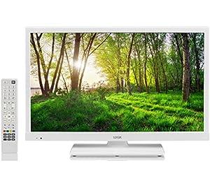 logik l24hedw14 24 inch white hd ready led tv dvd electronics. Black Bedroom Furniture Sets. Home Design Ideas