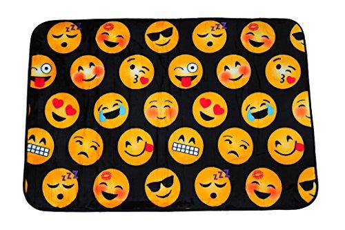 Emoji Pals WK680716 Emoji Area Rug, Black