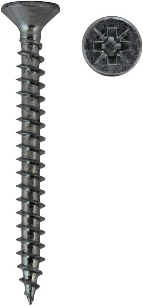 Lot de 100 vis à bois acier zingué 3.5 x 50 mm TF