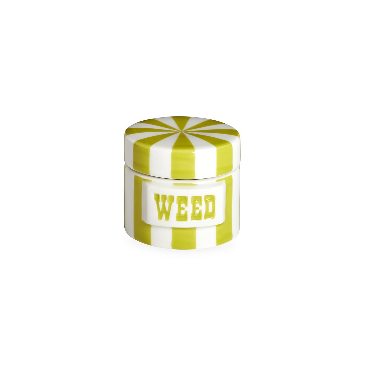 Jonathan Adler - Canister - Weed - Lime & White