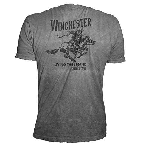 Official Winchester Men's Limited Edition Vintage Rider Graphic Short Sleeve Cotton T-shirt
