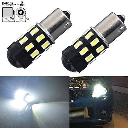 JDM ASTAR 960 Lumens Super Bright 5730 Chipsets 7507 1156PY BAU15S LED Bulbs with Projector,Xenon White