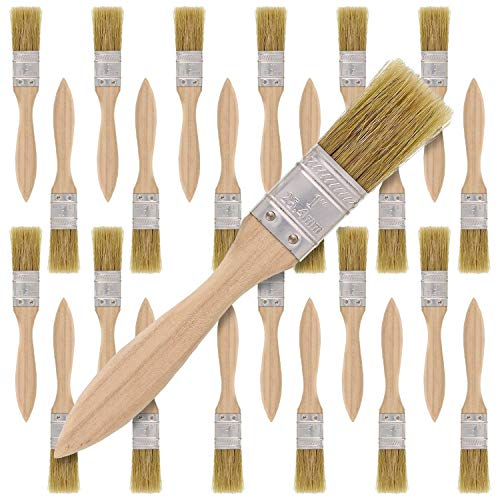US Art Supply 36 Pack of 1 inch Paint and Chip Paint Brushes for Paint, Stains, Varnishes, Glues, and Gesso ()