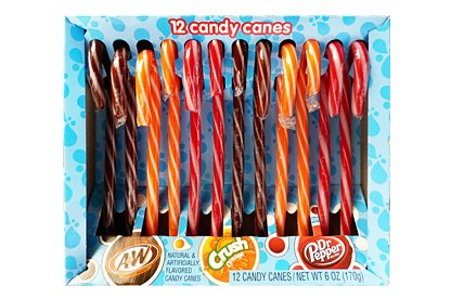 (American Soda Candy Canes, 12ct )