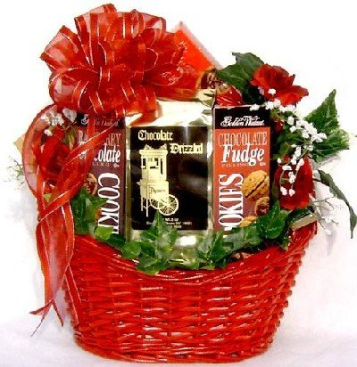 Basket Delicious Delights (Gift Basket Village Chocolate Madness Chocolate Lover Gift Basket, Medium)