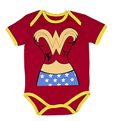 [StylesILove Super Hero Inspired Short Sleeved Costume Baby Bodysuit (80/6-12 Months, Superwoman)] (Superhero Costumes Pictures)