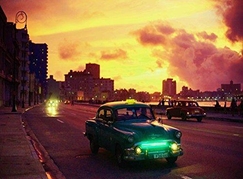 FKG Adult Jigsaw Puzzle Classic Car Old Havana Harbor Cuba 500-Pieces