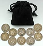 #9: Instant Indian Head Cent Collection - 10 Different More Than 100 Year Old Dates