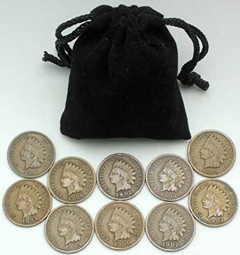 Instant Indian Head Cent Collection - 10 Different More Than 100 Year Old Dates