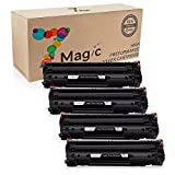 7Magic Compatible 83A CF283A High Yield Toner Cartridge Replacement for HP Laserjet Pro MFP M125 M125a M125nw M125rnw M126 M126a M126nw M127 Printers (4 Pack-Black)