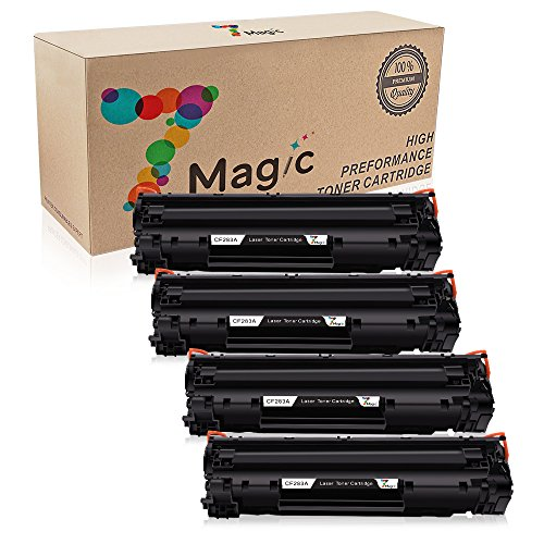 7Magic Compatible 83A CF283A High Yield Toner Cartridge Replacement for HP LaserJet Pro MFP M125 M125a M125nw M125rnw M126 M126a M126nw M127 printers (4 Pack-Black) by 7Magic