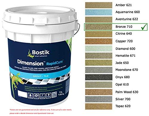 Bostik Dimension StarGlass Grout 710 Bronze 9 lbs by Bostik