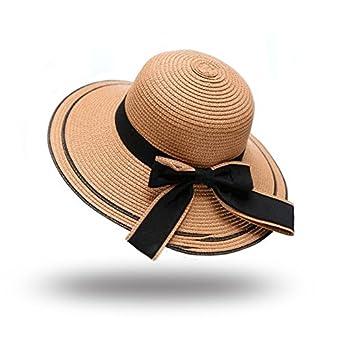 623fba21168 Aabigale beautiful sun hat 2018 summer new fashion wheat Panama sun hat  beach hat ribbon bow