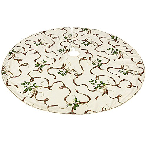 Lenox Holiday Nouveau Christmas Tree Skirt (Christmas Tree 60 Skirt Inch)