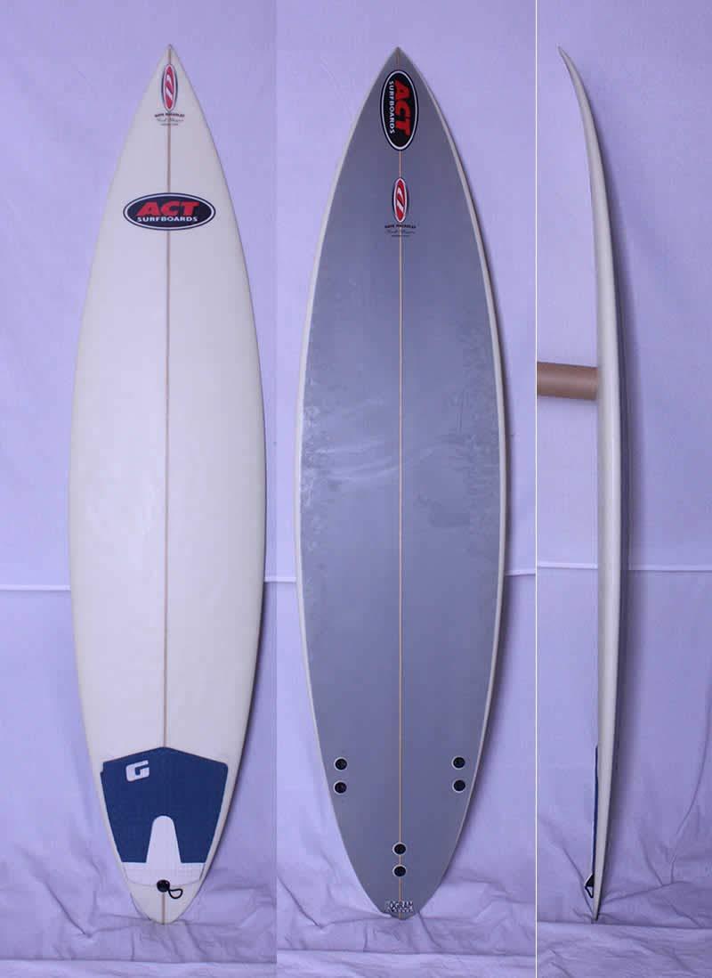 ACT(アクト)Dave Macaulay SHAPE サーフボード[CLEAR×GRAY]6'8
