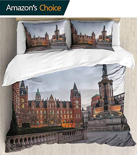 PRUNUSHOME Fashions Home Bedding Imperial College in London Durable Elasticity Full