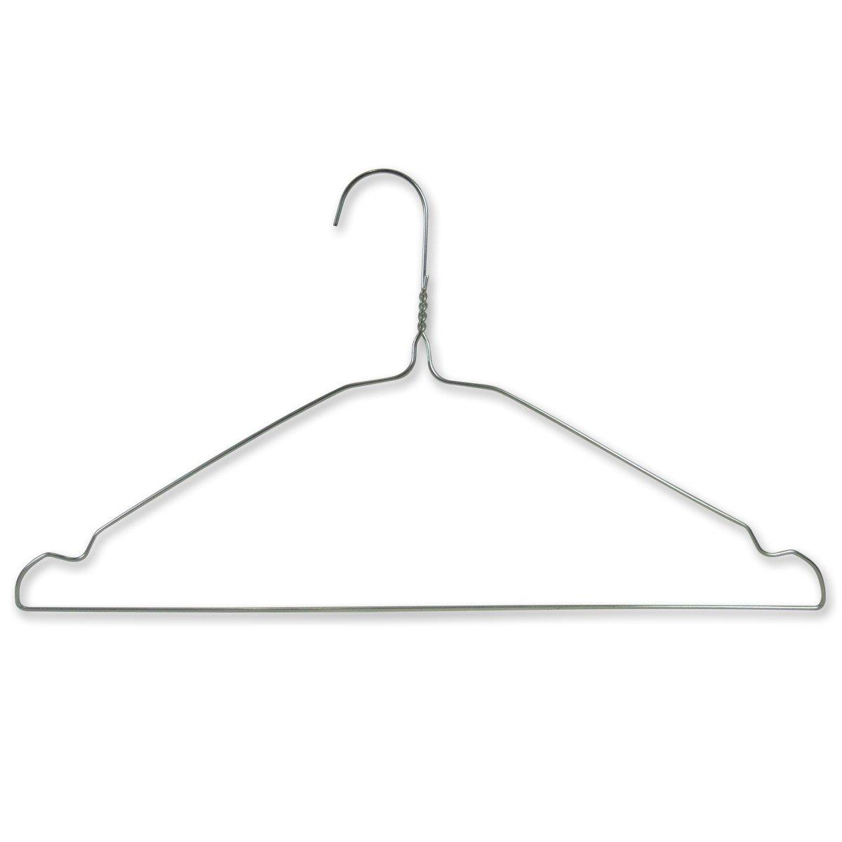 100 VERZINKTE Draht-Kleiderbügel – mit Einkerbungen – für den ...