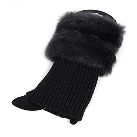 ECMQS Mujeres Sirven Calcetines, Mujer Invierno Crochet strickstrumpf Ganchillo fluffies calzas Stricken Boot Calentadores Manguito