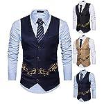 51RHJ5iqQyL. SS150  - Yomis Men's Formal Suit Waistcoat Tuxedo Slim Fit Casual Business Dress Vest Tops